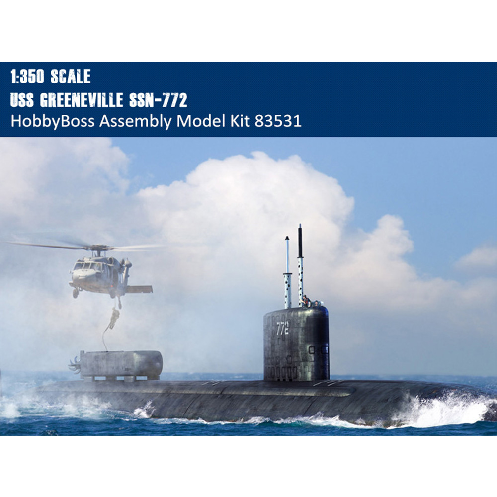 HobbyBoss 83531 1/350 Scale USS Greeneville SSN-772 Attack Submarine  Military Plastic Assembly Model Kit