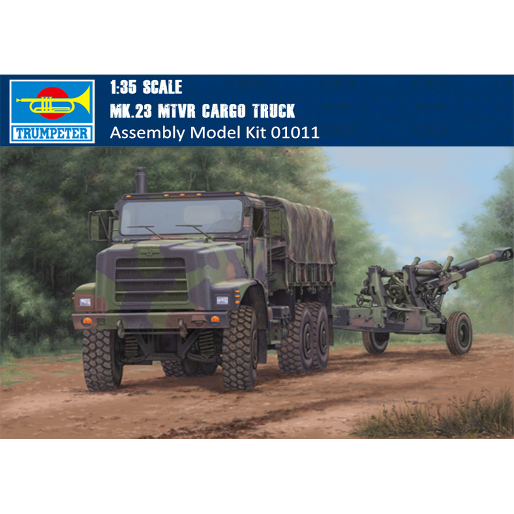 Trumpeter 01011 1/35 Scale US MK 23 MTVR Cargo Truck Military Plastic  Assembly Model Kit