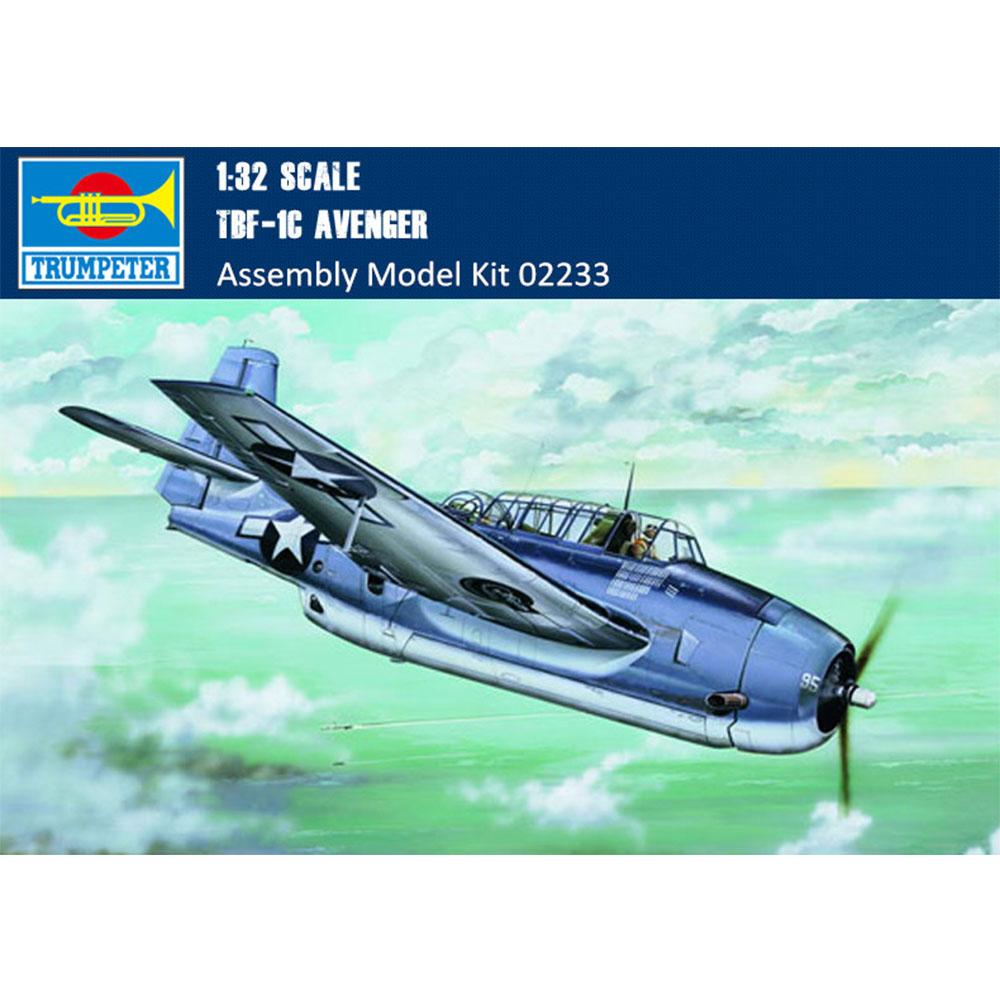 Trumpeter 02233 1/32 Scale TBF-1C Avenger Torpedo Bomber Military Plastic  Assembly Aircraft Model Kit