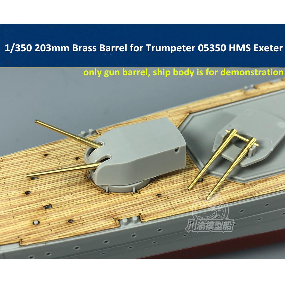 1//350 Scale 356mm Brass Barrel for HobbyBoss 86501 Arizona Ship Model CYG028