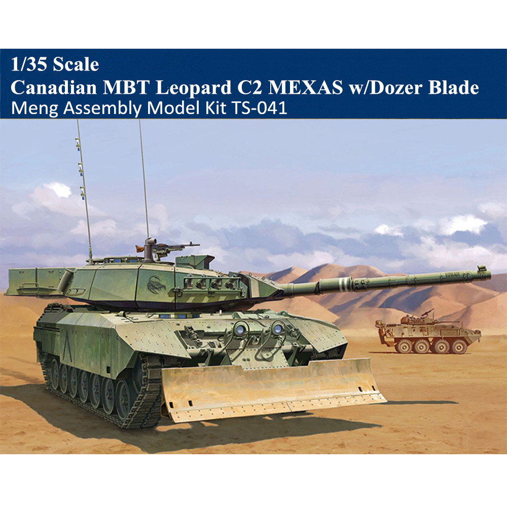 MENG Model TS-041 Canadian Main Battle Tank Leopard C2 MEXAS w//Dozer Blade