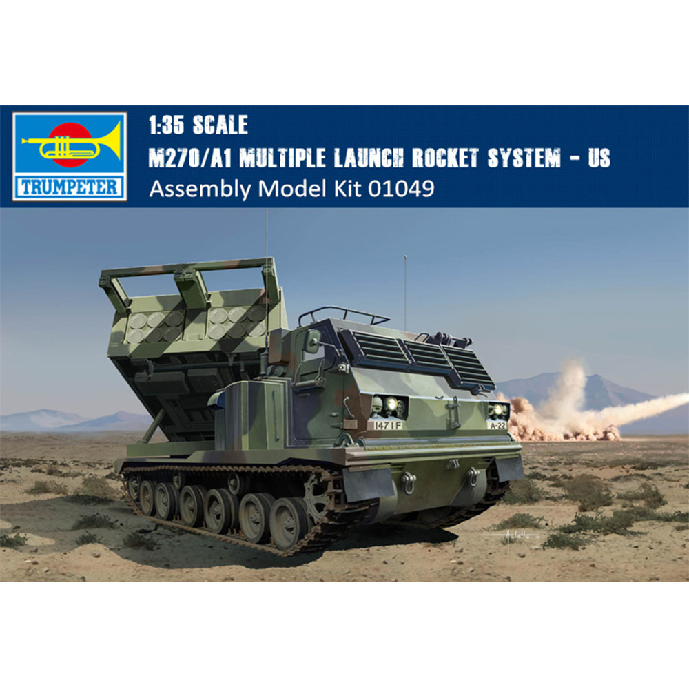 Trumpeter 01049 1//35 M270//A1 Multiple Launch Rocket System Military Model Kit