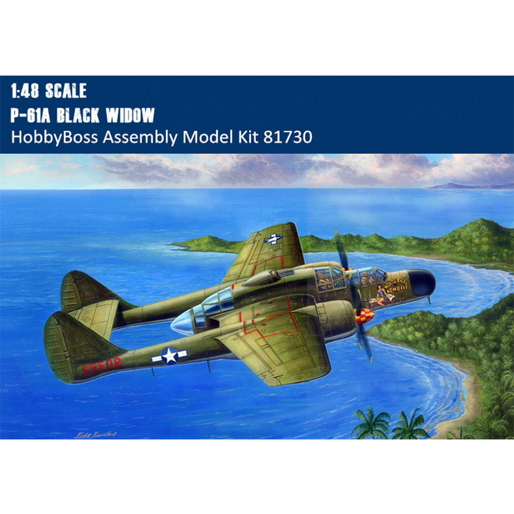 Hobbyboss 81730 1:48 P-61A Black Widow Fighter Plane Plastic Assembly Model Kit