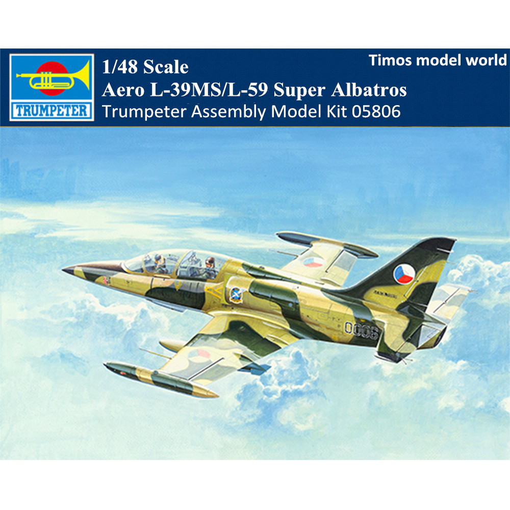 Trumpeter 05806 1/48 Scale Aero L-39MS/L-59 Super Albatros Military Plastic  Aircraft Assembly Model Kit