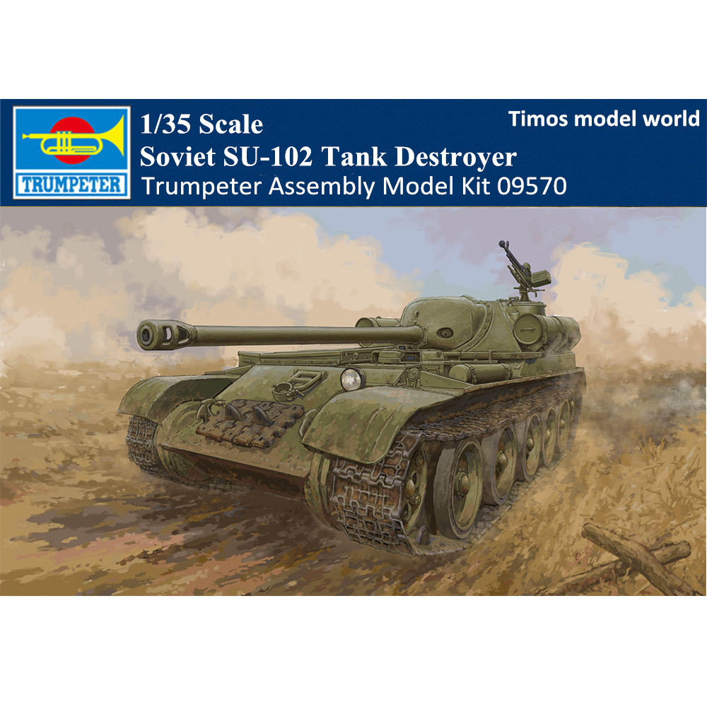 Trumpeter 09570 1/35 Scale Soviet SU-102 Tank Destroyer Military Plastic  Assembly Model Kits