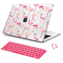 Batianda Unique Crystal Hard Case for New MacBook Air Pro 11 12 13 15 inch Flamingo