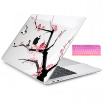 Batianda Unique Crystal Hard Case for New MacBook Air Pro 11 12 13 15 inch Plum blossom