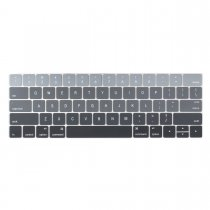Batianda keyboard cover for new macbook pro 13 15 inch with touch bar grey