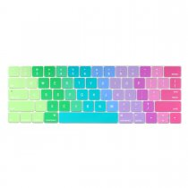 Batianda keyboard cover for new macbook pro 13 15 inch with touch bar rainbow