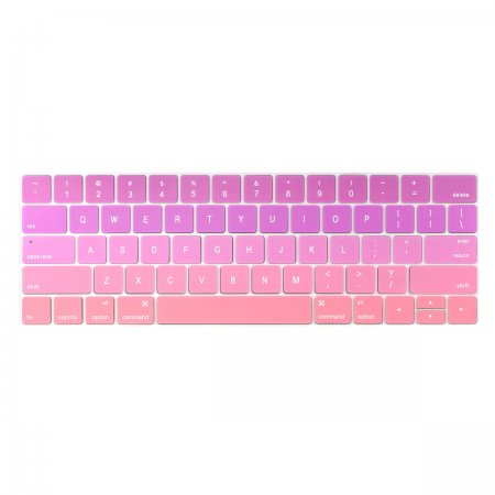 Batianda keyboard cover for new macbook pro 13 15 inch with touch bar pink