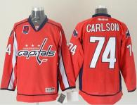 Washington Capitals -74 John Carlson Red 40th Anniversary Stitched NHL Jersey