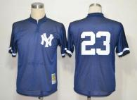 Mitchell And Ness 1995 New York Yankees -23 Don Mattingly Blue Throwback Stitched MLB Jersey