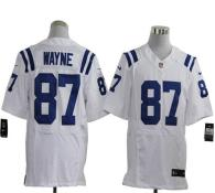 Nike Indianapolis Colts #87 Reggie Wayne White Men's Stitched NFL Elite Jersey