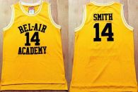Bel-Air Academy -14 Smith Gold Stitched Basketball Jersey