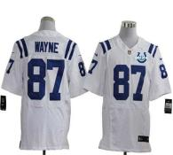 Nike Indianapolis Colts #87 Reggie Wayne White With 30TH Seasons Patch Men's Stitched NFL Elite Jers