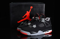 Super Max Perfect Air Jordan 4 Black Red