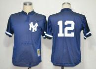 Mitchell And Ness 1995 New York Yankees -12 Wade Boggs Blue Throwback Stitched MLB Jersey
