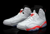 Super Max Perfect Air Jordan 6 White Infrared Shoes
