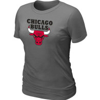 NBA Chicago Bulls Big Tall Primary Logo  Women T-Shirt (5)
