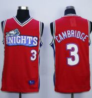 Like Mike Movie Los Angeles Knights -3 Calvin Cambridge Red Stitched Basketball Jersey