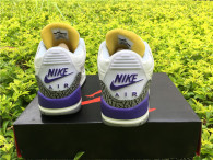 "Super Max Perfect Air Jordan 3 Retro""Nike Air""Logo (White purple)"