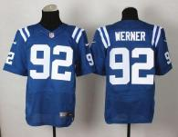 Nike Indianapolis Colts #92 Bjoern Werner Royal Blue Team Color Men's Stitched NFL Elite Jersey