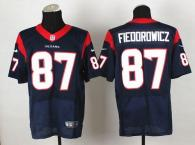 Nike Houston Texans #87 CJ Fiedorowicz Navy Blue Team Color Men's Stitched NFL Elite Jersey