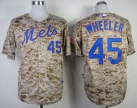 New York Mets -45 Zack Wheeler Alternate Camo Cool Base Stitched MLB Jersey