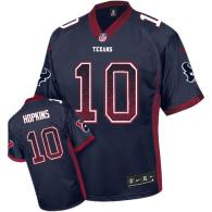 Nike Houston Texans #10 DeAndre Hopkins Navy Blue Team Color Men's Stitched NFL Elite Drift Fashion