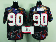 Nike Houston Texans #90 Jadeveon Clowney Team Color NFL Elite Fanatical Version Autographed Jersey