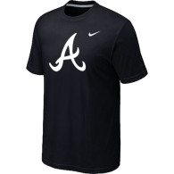 MLB Atlanta Braves Heathered Nike Black Blended T-Shirt