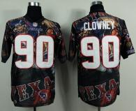 Nike Houston Texans #90 Jadeveon Clowney Team Color Men's Stitched NFL Elite Fanatical Version Jerse