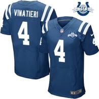 Nike Indianapolis Colts #4 Adam Vinatieri Royal Blue Team Color With 30TH Seasons Patch Men's Stitch