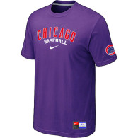 Chicago Cubs Purple Nike Short Sleeve Practice T-Shirt