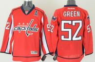 Washington Capitals -52 Mike Green Red Stitched NHL Jersey