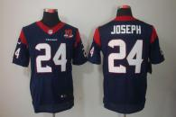 Nike Houston Texans #24 Johnathan Joseph Navy Blue Team Color With 10th Patch Men's Stitched NFL Eli