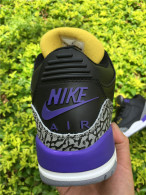 "Super Max Perfect Air Jordan 3 Retro""Nike Air""Logo (Black purple)"