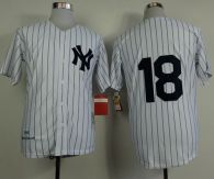 Mitchell and Ness 1956 New York Yankees -18 Don Larsen White Throwback Stitched MLB Jersey