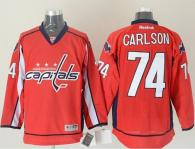 Washington Capitals -74 John Carlson Red Stitched NHL Jersey