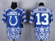 Nike Indianapolis Colts #13 TY Hilton Royal Blue Men's Stitched NFL Elite Noble Fashion Jersey