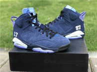 Authentic Air Jordan 6 UNC Championship PE Navy
