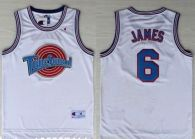 Space Jam Tune Squad -6 James White Stitched Basketball Jersey