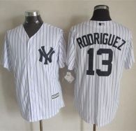 New York Yankees -13 Alex Rodriguez New White Strip Cool Base Stitched MLB Jersey