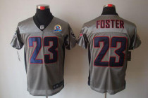 Nike Houston Texans -23 Arian Foster Grey Shadow With Hall of Fame 50th Patch Men's Stitched NFL Eli