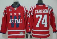 Washington Capitals -74 John Carlson 2015 Winter Classic Red 40th Anniversary Stitched NHL Jersey