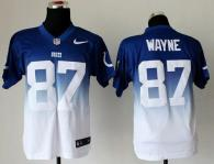 Nike Indianapolis Colts #87 Reggie Wayne Royal Blue White Men's Stitched NFL Elite Fadeaway Fashion