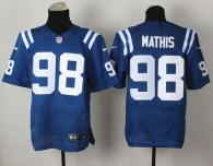 Nike Indianapolis Colts #98 Robert Mathis Royal Blue Team Color Men's Stitched NFL Elite Jersey
