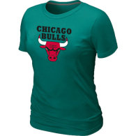 NBA Chicago Bulls Big Tall Primary Logo  Women T-Shirt (7)