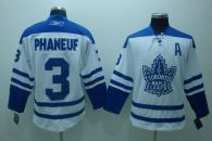 Toronto Maple Leafs -3 Dion Phaneuf Stitched White Third NHL Jersey