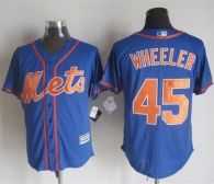 New York Mets -45 Zack Wheeler Blue Alternate Home New Cool Base Stitched MLB Jersey